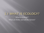 3.1 What is Ecology?