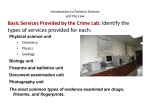 Introduction to Forensic Science and the Law