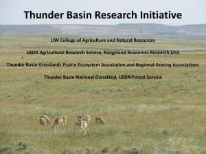 Thunder Basin Research Initiative UW College of Agriculture and