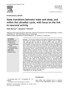 State transitions between wake and sleep, and within the