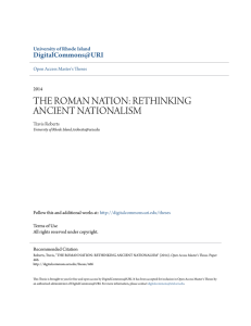 the roman nation: rethinking ancient nationalism