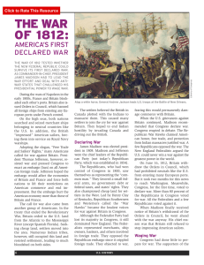 The War of 1812: America`s First Declared War