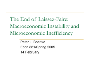 The End of Laissez-Faire: Macroeconomic Instability and