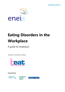 Eating Disorders in the Workplace