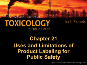 Principles and Practices of Toxicology in Public Health