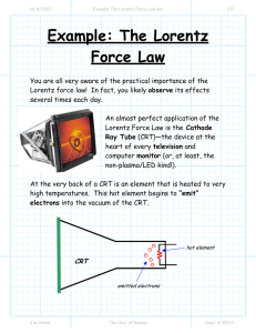 Example: The Lorentz Force Law
