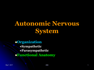 Disorders of Autonomic Nervous System
