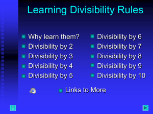 Learning Divisibility Rules