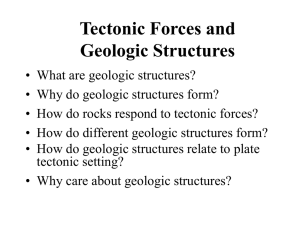 Tectonic Forces and Geologic Structures