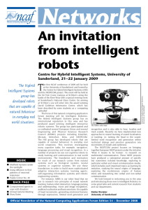 The Hybrid Intelligent Systems group has developed robots that are