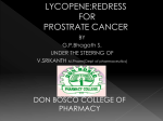 lycopene:redress for prostrate cancer