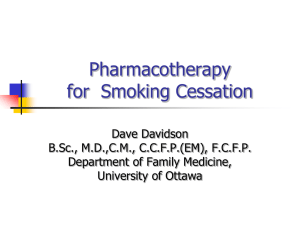 Pharmacotherapy for Smoking Cessation