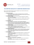 THE SYMPTOM CHECKLIST OF A SUBSTANCE ABUSING ADULT