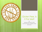 Gluten Free, Is it For Me? 11/2015