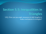 Section 5.5: Inequalities in Triangles