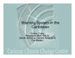 Warning system in the Caribbean