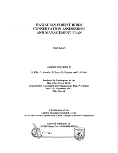 Hawaiian Forest Birds CAMP 1992