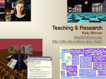 Teaching/research presentation - Indiana University Bloomington
