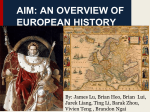 an overview of chapters of european history Relieves the pressure to learn all possible events and details of european history at a superficial level prepares you for the rigors of advanced college-level work in history for a bit more detail, download this two-page overview.