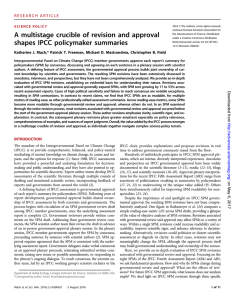 A multistage crucible of revision and approval shapes IPCC