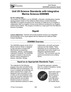 Unit VII Science Standards with Integrative Marine Science