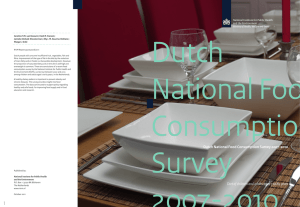 Dutch National Food Consumption Survey 2007-2010