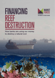 Financing Reef Destruction