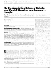 Association between diabetes and mental disorders