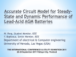 Accurate Circuit Model for Steady-State and Dynamic