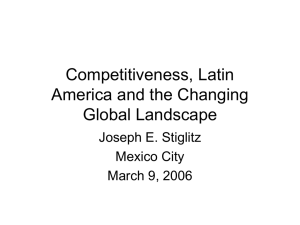 Competitiveness, Latin America, and the Changing Global Landscape