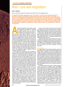 Mars` core and magnetism