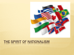 The Spirit of nationalism