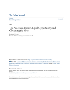 The American Dream, Equal Opportunity, and Obtaining the Vote