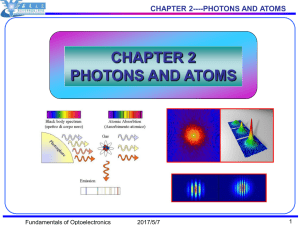 chapter 2 photons and atoms