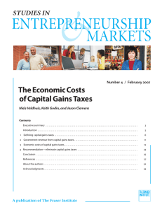 The Economic Costs of Capital Gains Taxes