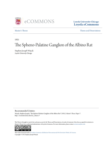 The Spheno-Palatine Ganglion of the Albino Rat