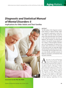 Diagnostic and Statistical Manual of Mental Disorders-5