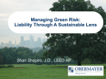 Liability Through A Sustainable Lens