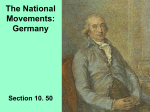 The National Movements: Germany