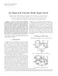 An Improved Current Mode Logic Latch