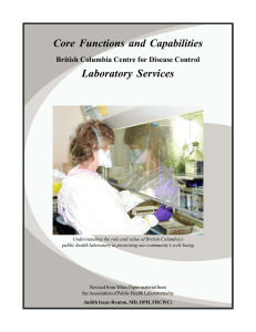 Core Functions and Capabilities Laboratory Services