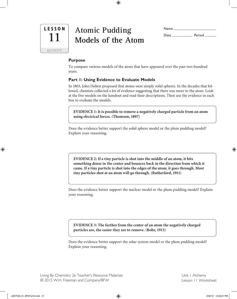Lesson 11 Worksheet Highline Public Schools