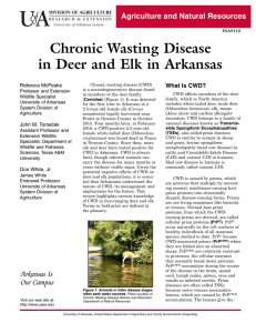 Chronic Wasting Disease in Deer and Elk in Arkansas