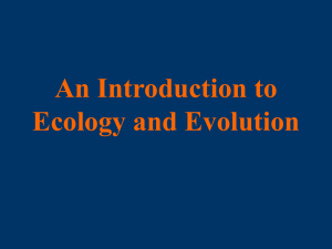 An Introduction to Ecology and Evolution