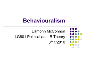 Behaviouralism - DCU Moodle 2011