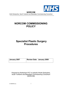 Plastic Surgery Policy