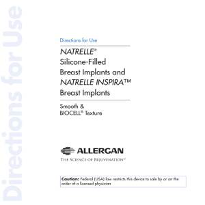 NATRELLE® Silicone-Filled Breast Implants and