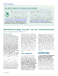 rNAi Biotechnology: Pros and Cons for Crop Improvement