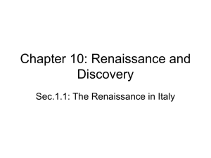 Chapter 10: Renaissance and Discovery