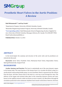 Prosthetic Heart Valves in the Aortic Position: A Review Hadi